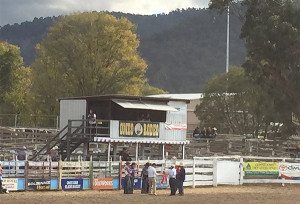 Open Saddle Bronc presentations at the Omeo Easter Rodeo